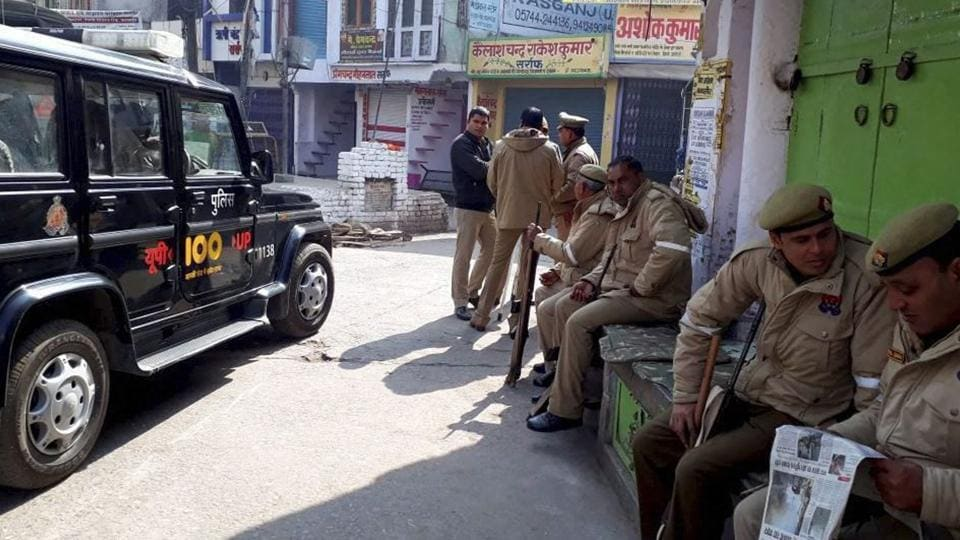 More than 80 people were arrested while the Rapid Action Force and Provincial Armed Constabulary personnel intensified vigil in Kasganj on Sunday.