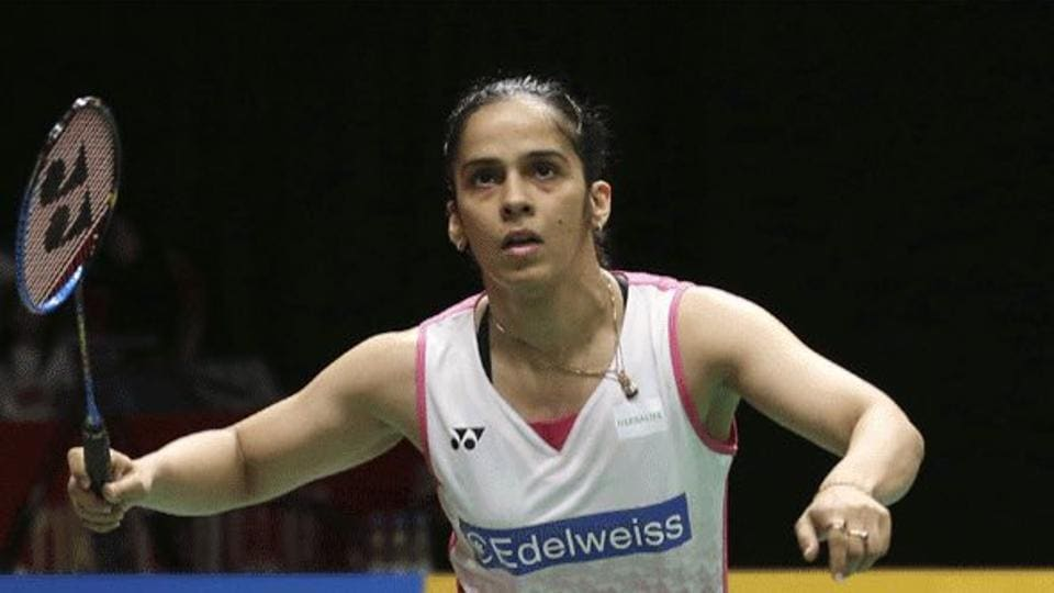 Saina Nehwal defeated Sofie Holmboe Dahl 21-15, 21-9 in the first round of the India Open badminton tournament.