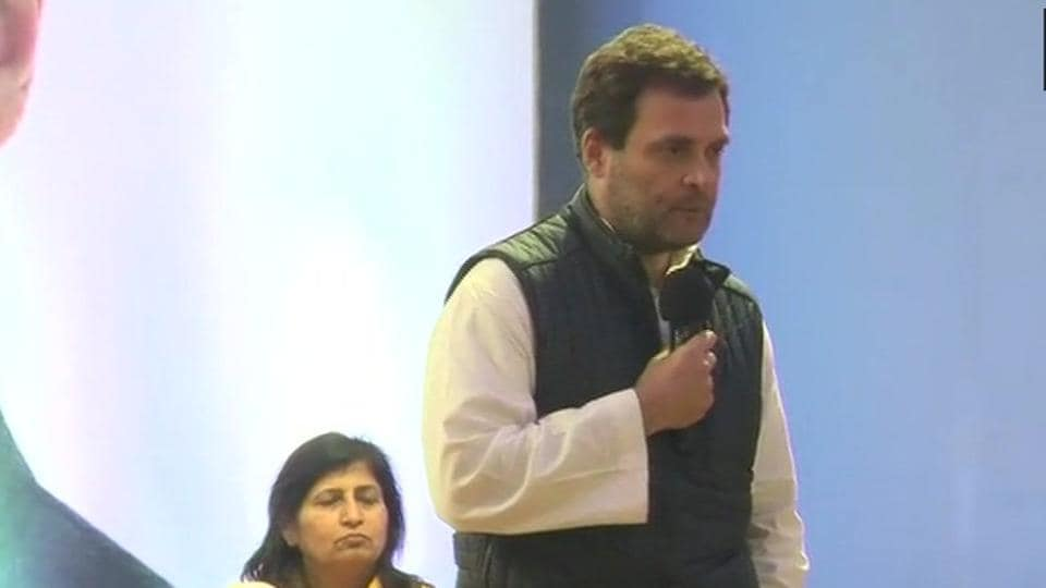Congress president Rahul Gandhi in Meghalaya that goes to polls on February 27.