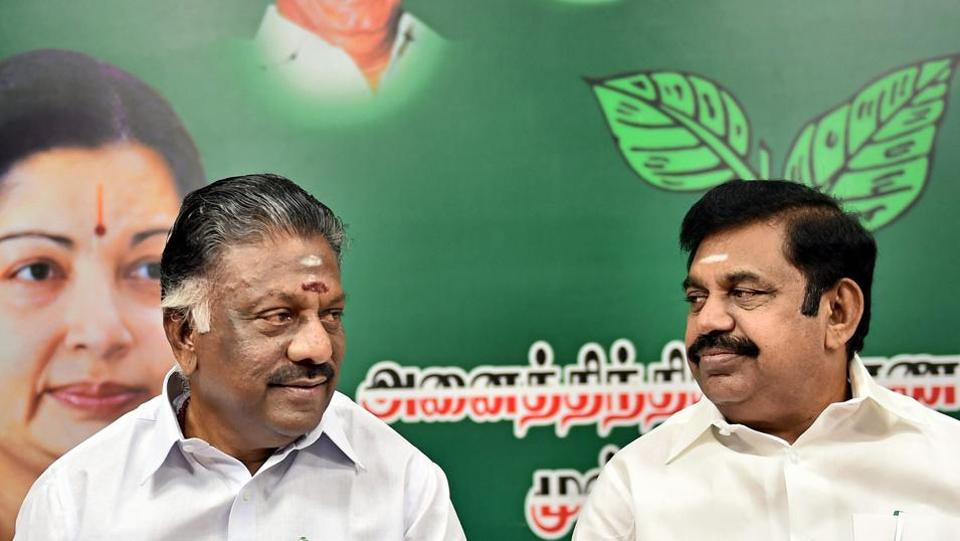 AIADMK leaders E Palaniswami and O Panneerselvam announced the expulsion of 123 officer-bearers.