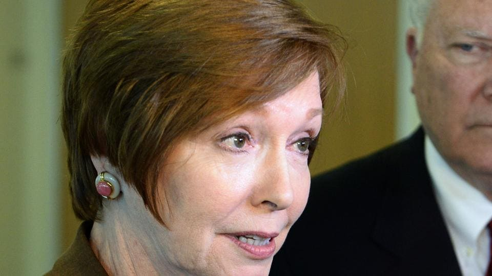 File photo of US Centers for Disease Control and Prevention director Brenda Fitzgerald. US officials have announced that Fitzgerald, the head of the top public health agency, has resigned because of financial conflicts of interest.