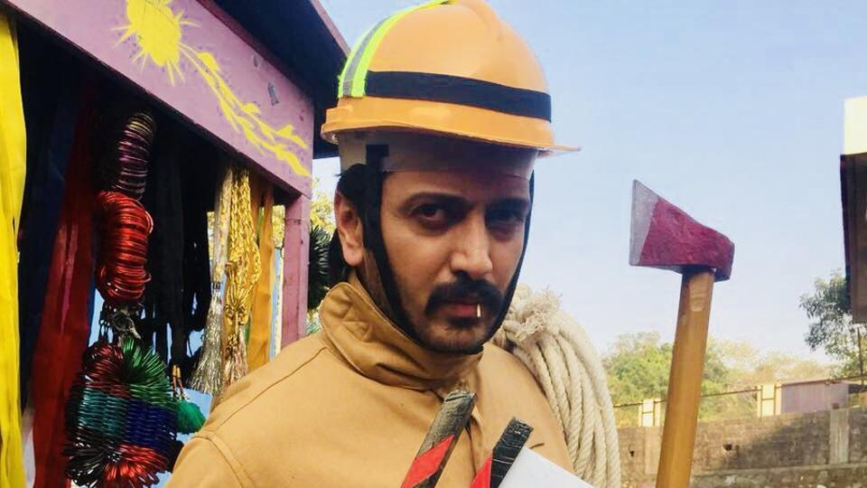 Riteish Deshmukh on the sets of Total Dhamaal.