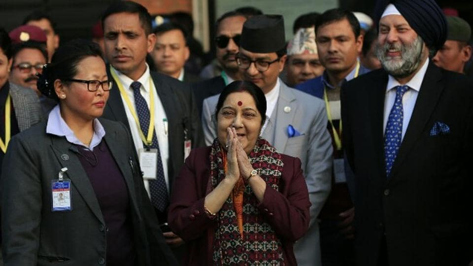 Sushma Swaraj says 'no fixed agenda' for talks with top Nepal leaders