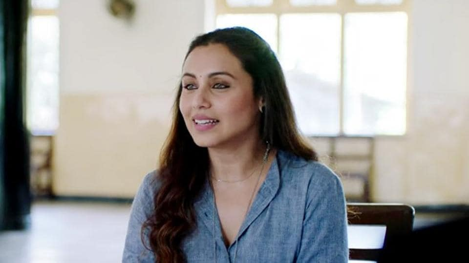 Rani Mukerji in a still from Hichki.
