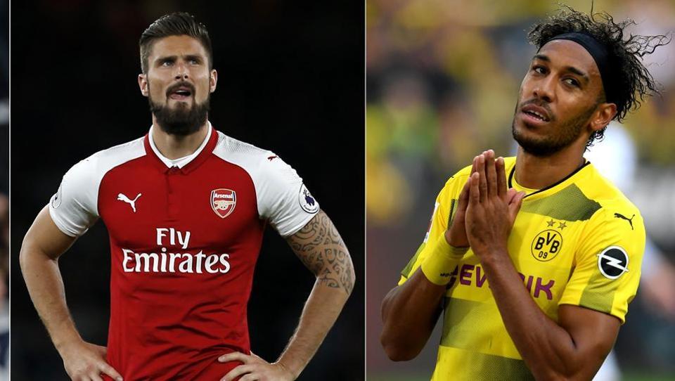 best website de6d5 dfc3a Arsenal sign Pierre-Emerick Aubameyang, Olivier Giroud makes ...