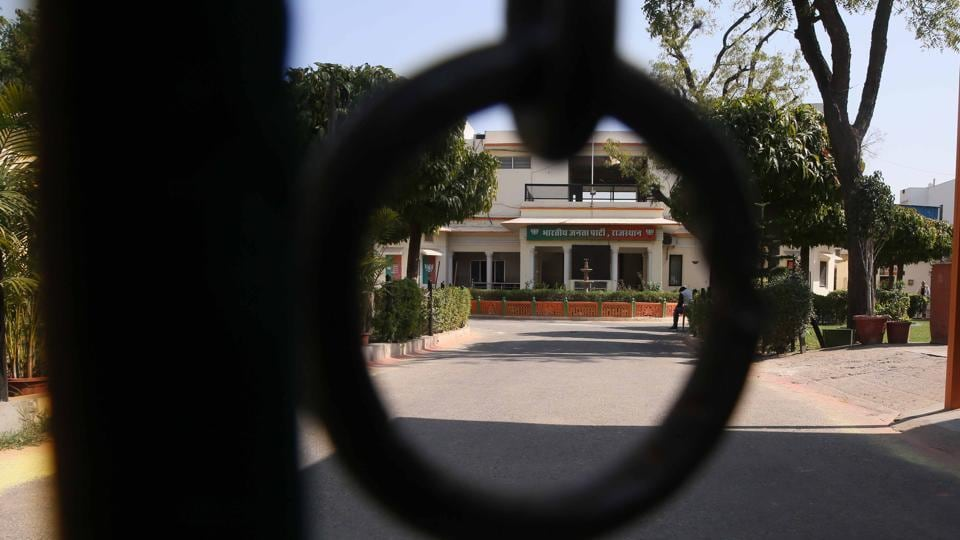 BJP head office in Jaipur wore a deserted look Thursday as Congress swept the bypolls to two Lok Sabha and one assembly seats in Rajasthan.