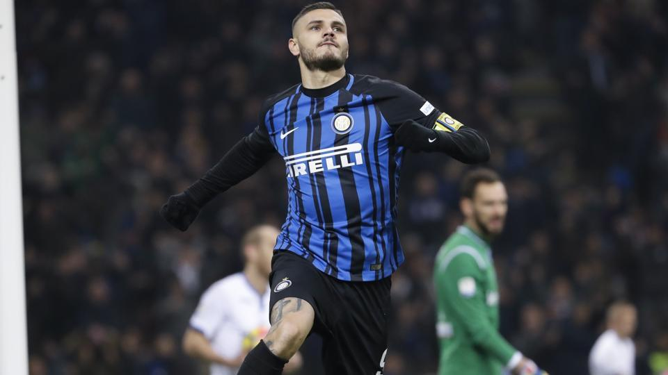 Inter Milan's skipper Mauro Icardi Mauro Icardi has only found the net twice since December 3 and the club has slid down the Serie A table since then.