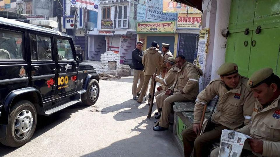 More than 80 persons were arrested while Rapid Action Force (RAF) and Provincial Armed Constabulary (PAC) personnel intensified vigil in Kasganj on Sunday.