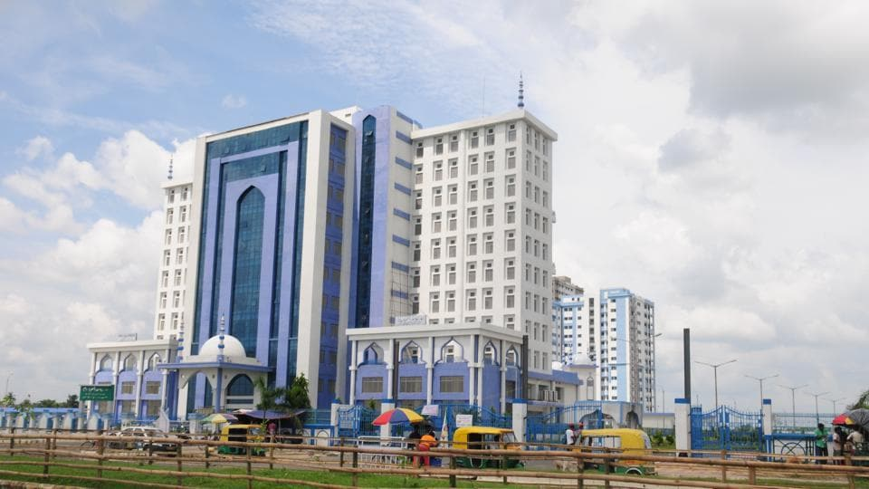 Cityscape of New Town and Rajarhat, the upcoming smart city project in Kolkata.