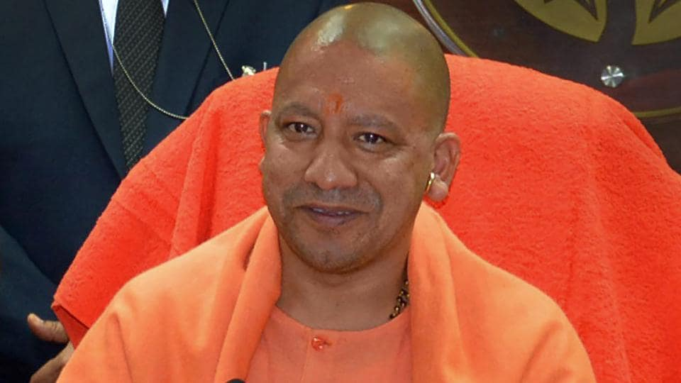 Uttar Pradesh Chief Minister Yogi Adityanath during a press conference in Lucknow on Thursday.
