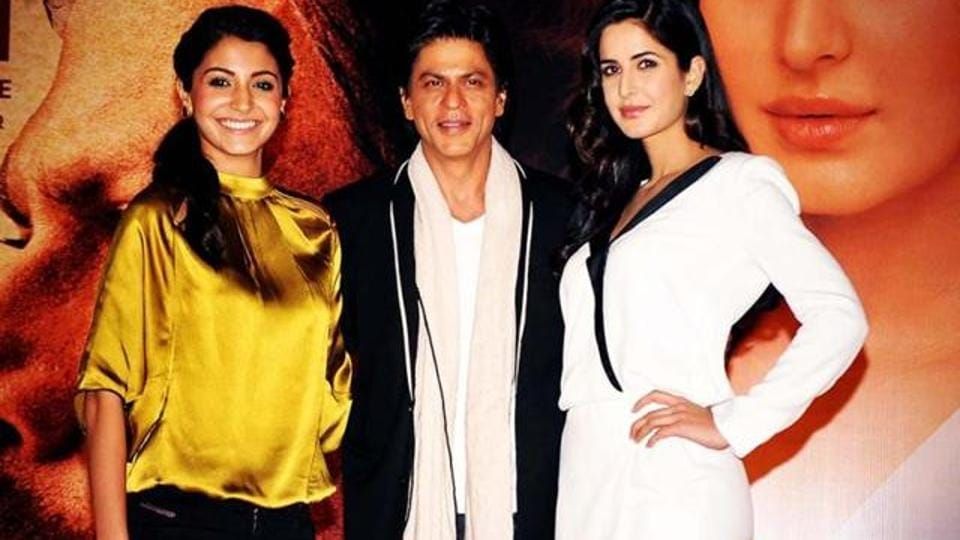 Anushka, SRK, Katrina on a promotional tour for Jab Tak Hai Jaan.