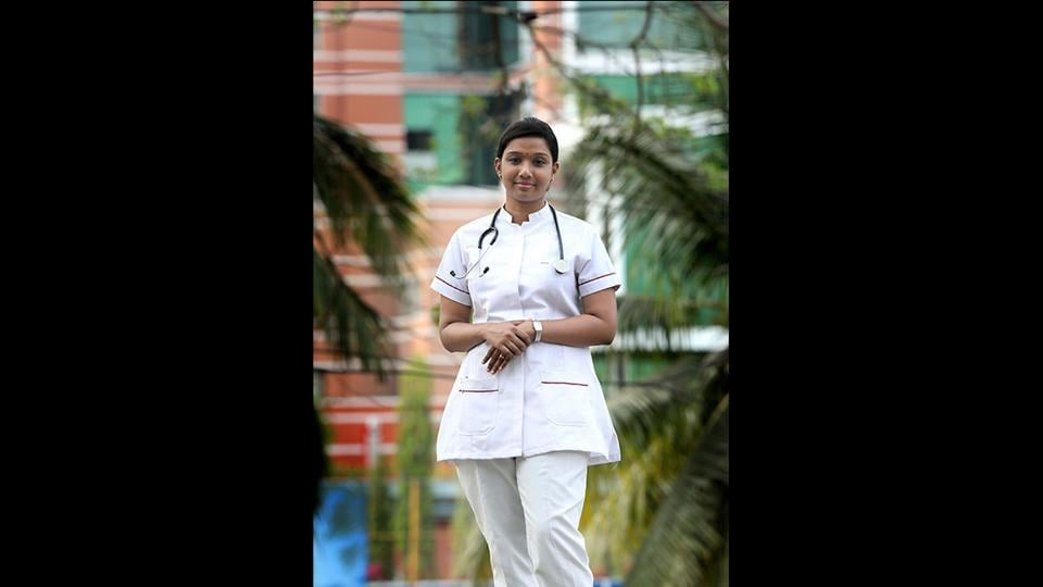 """Malu Treeza Thomas, 25, a nurse from Kerala, says this budget is a mixed bag. She is happy that major emphasis is on the health sector. """"Tax payer's money is rightly used for new national health scheme and 24 new medical colleges will provide enough job opportunities for medical staff. But there were no major announcements for job creation, no establishment for AIIMS in Kerala and small savings of common man remains unattractive,"""" she said. (Vivek R Nair / HT Photo)"""