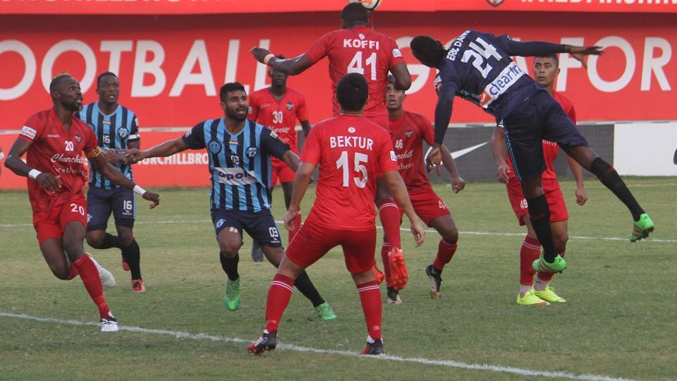 Churchill Brothers defeated Minerva Punjab FC 2-1 in the I-League.