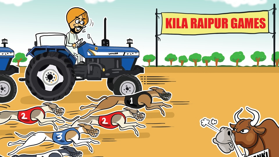 Last year during the Kila Raipur Games, the bullock cart owners protested against the Supreme Court's ban on bullock cart races.