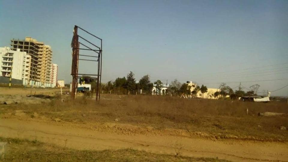 The site where the ABW Aditya Niketan project was proposed to come up.