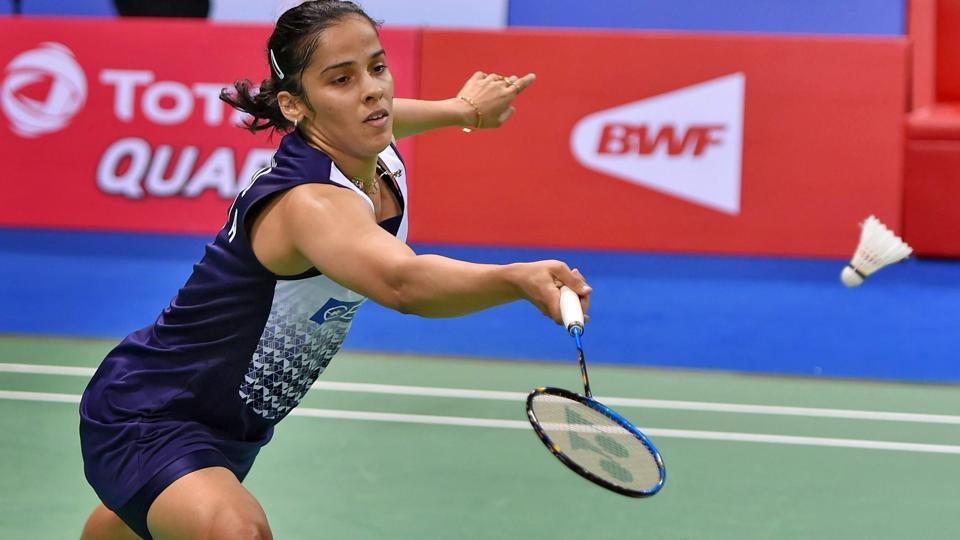 Saina Nehwal during her quarter-final at the India Open in New Delhi on Friday.