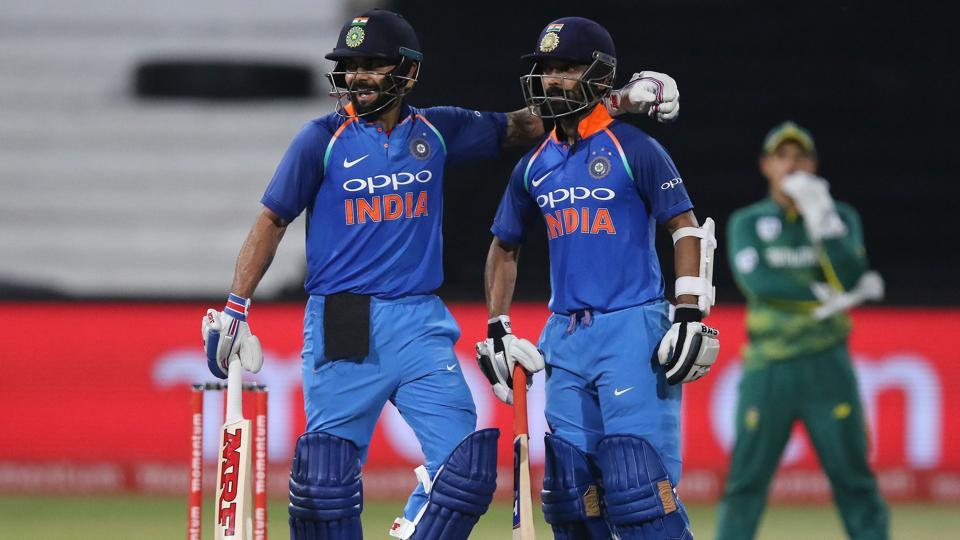 Virat Kohli and Ajinkya Rahane's 189-run partnership guided India to a six-wicket win over South Africa in the first ODI in Durban.