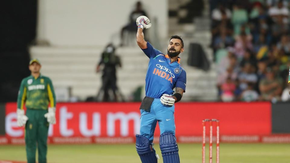 Virat Kohli's 33rd century and 20th in a chase gave India a thumping six-wicket win against South Africa in Durban as the visitors took a 1-0 lead in the series. (BCCI)