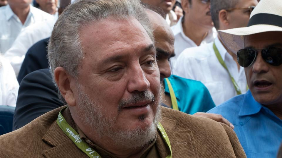 Fidel Castro Diaz-Balart, son of former Cuban president Fidel Castro, participates in the inauguration of the 32nd Havana International Fair.