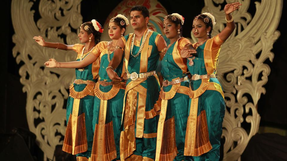 The classical dance of this bunch of visually challenged people was also a sight to behold. (Rahul Raut/HT PHOTO)