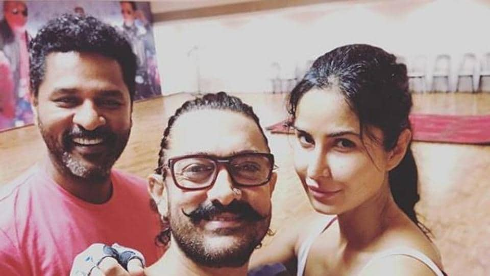 Katrina Kaif is practising for a song choreographed by Prabhudheva in Thugs of Hindostan.