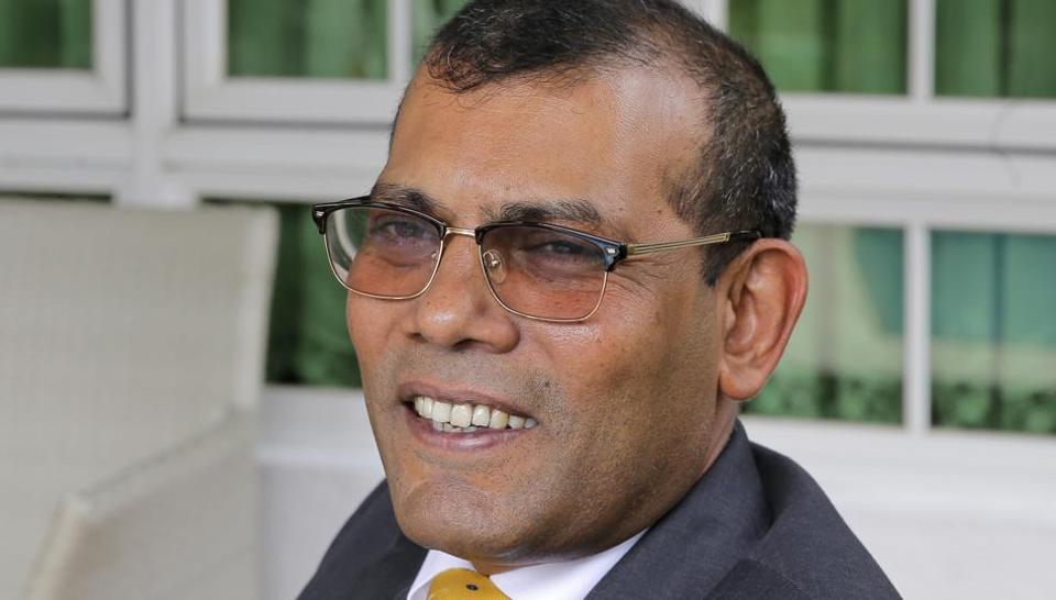 Former Maldives president Mohamed Nasheed in Colombo on February 2, 2018.