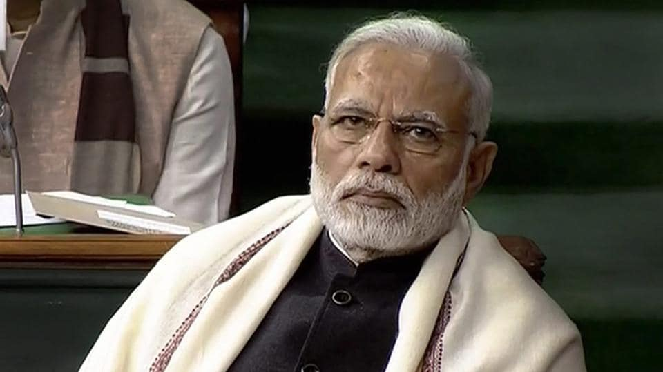 Prime Minister Narendra Modi listens as finance minister Arun Jaitley presents the Union Budget in Parliament on Thursday.