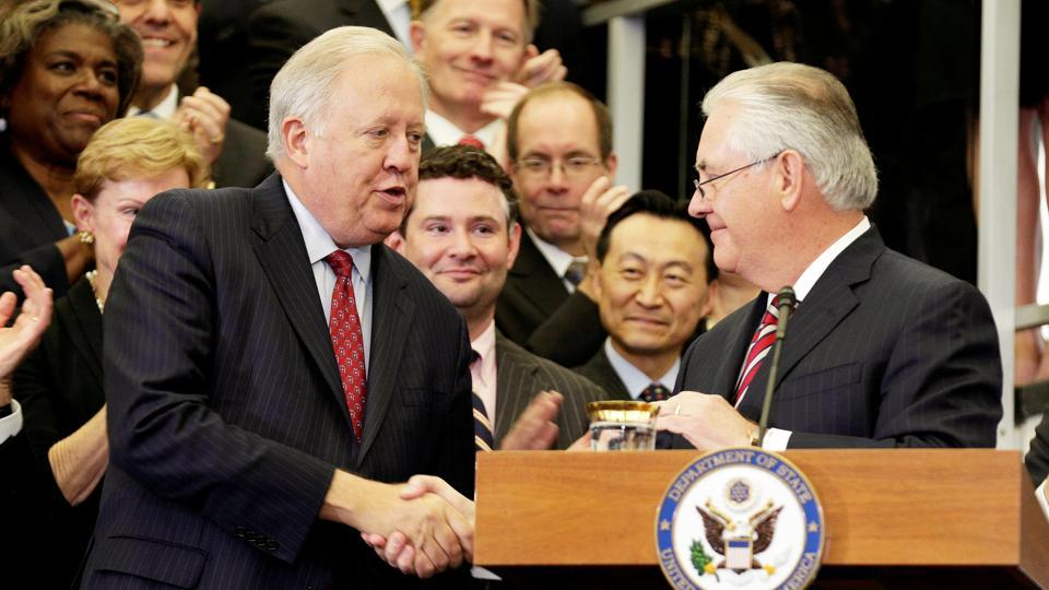 Rex Tillerson and Luis Videgaray talk security, migration during Mexico visit