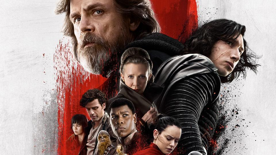 A poster of Star Wars: The Last Jedi.