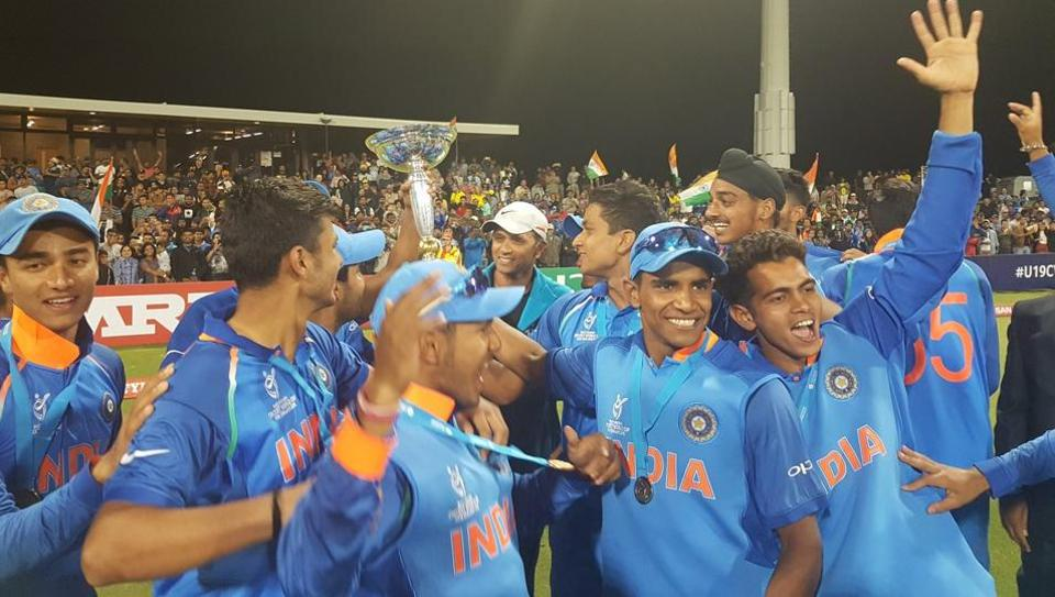 Manjot Kalra scored a century as India beat Australia by 8 wickets in the  ICC Under-19 Cricket World Cup final at the Bay Oval in Tauranga. Get full cricket score of India and Australia, ICC Under-19 cricket World Cup final, here.