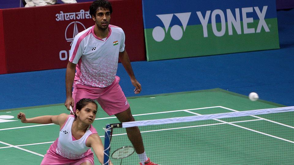 Pranaav Jerry Chopra and N Sikki Reddy lost to Mathias Christiansen and Christinna Pedersen in the semi-finals of the India Open badminton tournament.