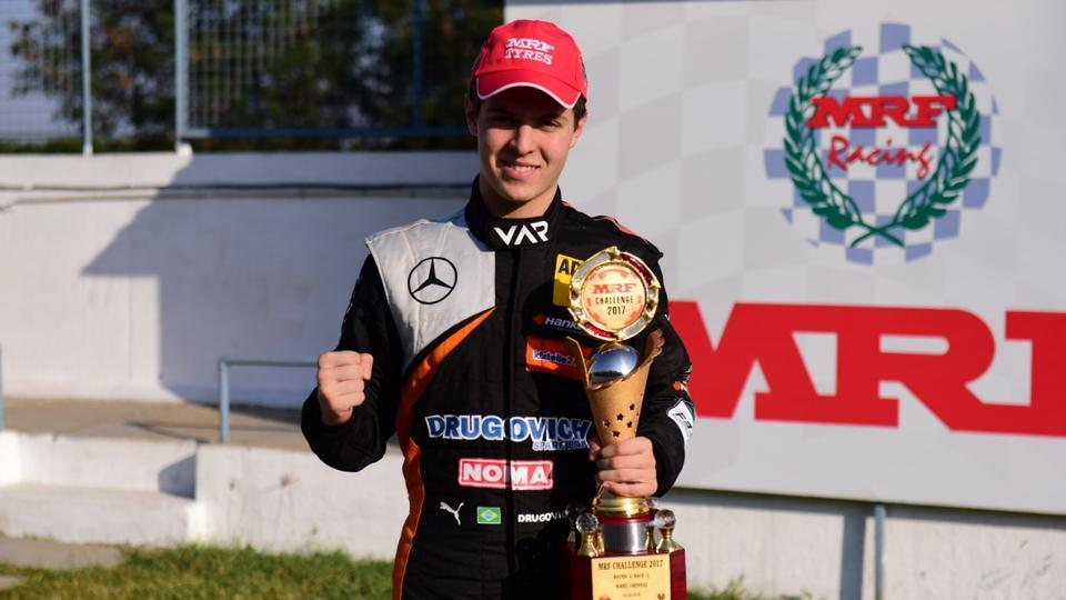 Brazilian driver Felipe Drugovich has been crowned the 2017 MRF Challenge champion.