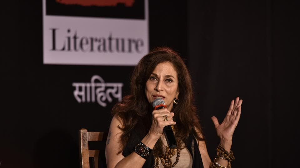 Shobhaa De at David Sasoon library on Saturday.