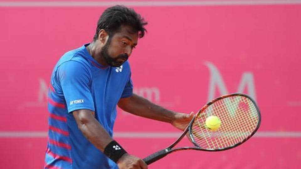 Leander Paes and Jeevan Nedunchezhiyan were up against each other was at the season-opening Tata Open Maharashtra in Pune