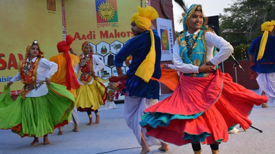 The theme of the festival is - 'A celebration of the spirit of tribal culture, craft, cuisine and commerce.' (SANT ARORA/HT)
