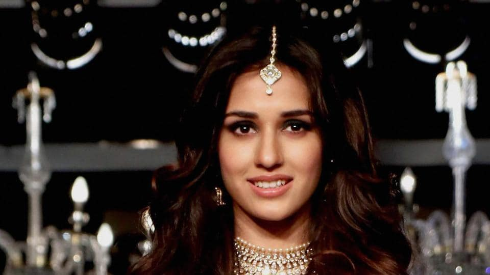 Disha Patani walks the ramp as a showstopper at Wedding Junction Show in Mumbai.