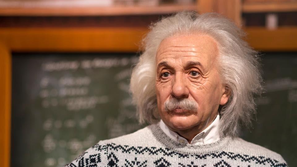 Wax sculpture of Albert Einstein at Madame Tussauds Istanbul.