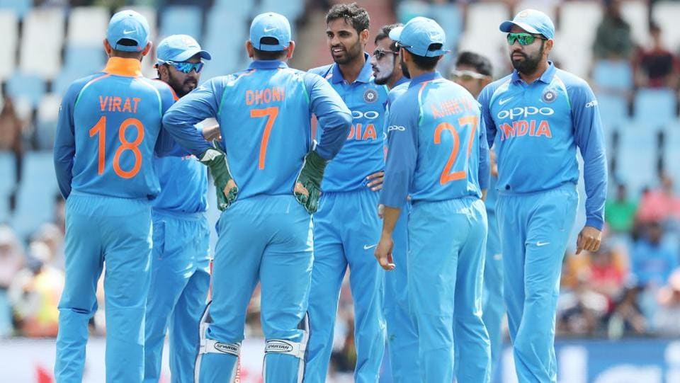 Bhuvneshwar Kumar gave India the first breakthrough when he removed Hashim in the 10th over. (BCCI)