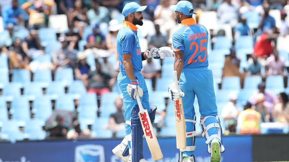 Kohli and Dhawan put on an unbeaten 93 runs for the second wicket. (BCCI)