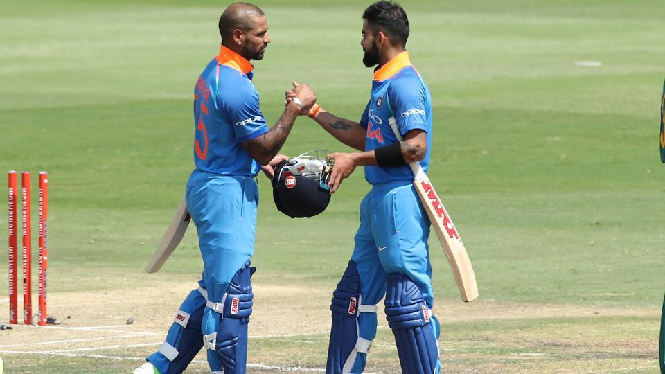 Shikhar Dhawan and Virat Kohli saw India through in 20.3 overs. (BCCI)
