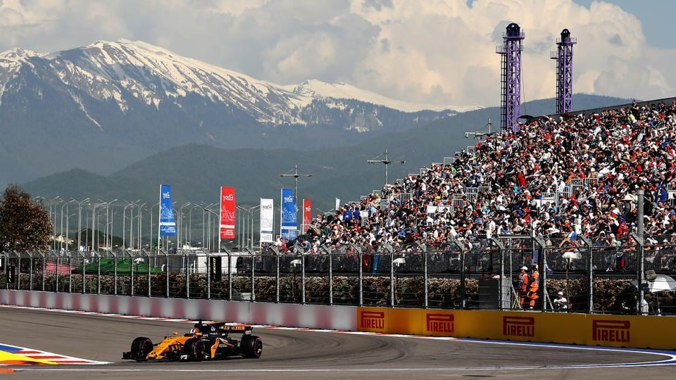 The Formula One (F1) racetrack in the Olympic Park of the Russian Black Sea resort city of Sochi is the venue for the Grand Prix of Russia.