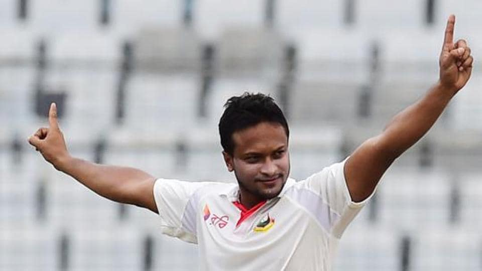 Shakib Al Hasan was not part of the Test match in Chittagong which ended in a draw due to a finger injury.