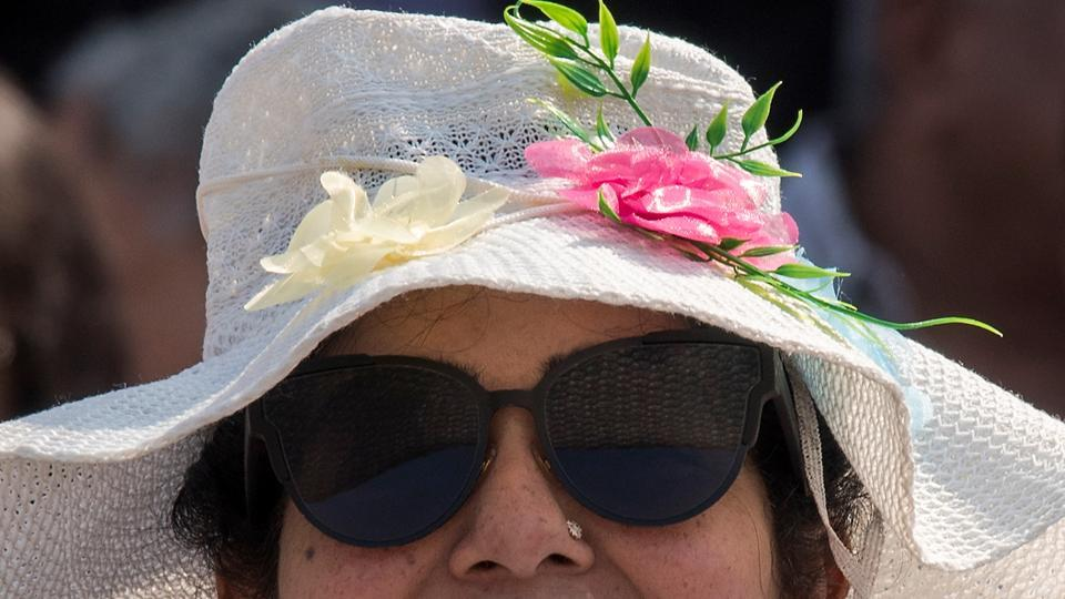 7cbc621a03b It s not just the children who channelled summer at the Derby. The  wide-brimmed