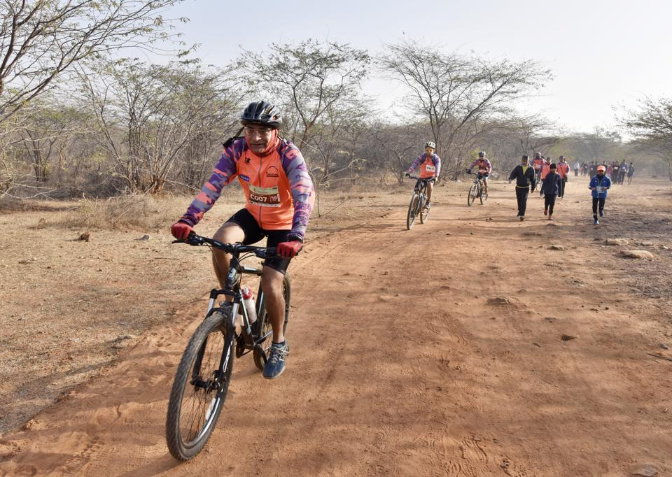 People between the ages of seven and 70 participated with vigour in the trail-a-thon 2018, conducted by fitness groups in Delhi-NCR, under the banner of Aravalli Trail Blazer.