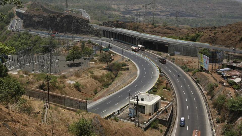 The Mumbai-Pune Expressway.