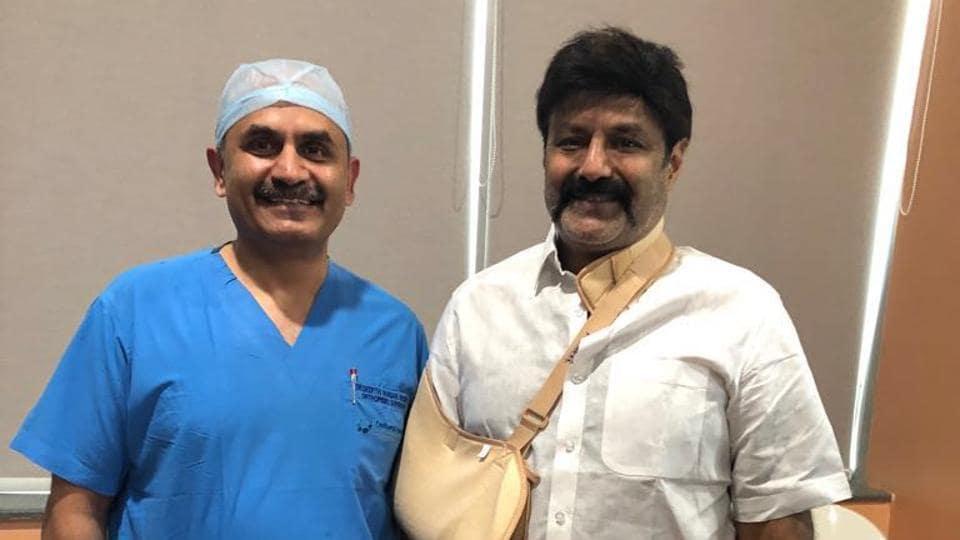 Nandamuri Balakrishna suffered a rotator cuff tear of shoulder while shooting for Gauthamiputra Satakarni.