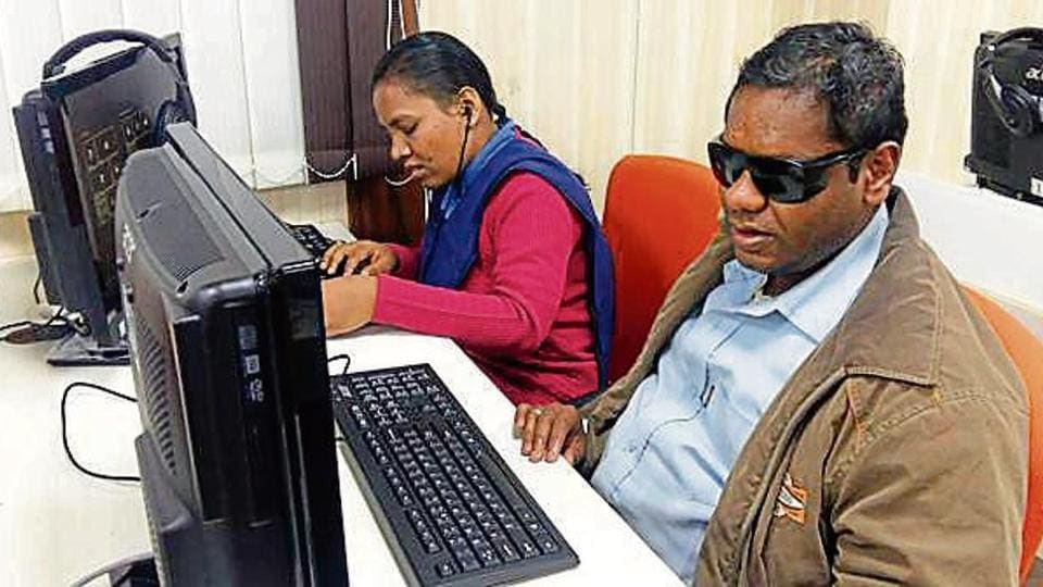 Madhya Pradesh,Visually Impaired Students,Industrial Training Institute