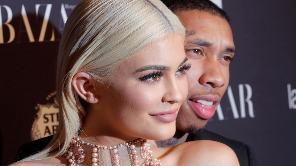 Tyga and Kylie Jenner attend Harper's Bazaar's celebration of 'ICONS By Carine Roitfeld' at The Plaza Hotel during New York Fashion Week in Manhattan.