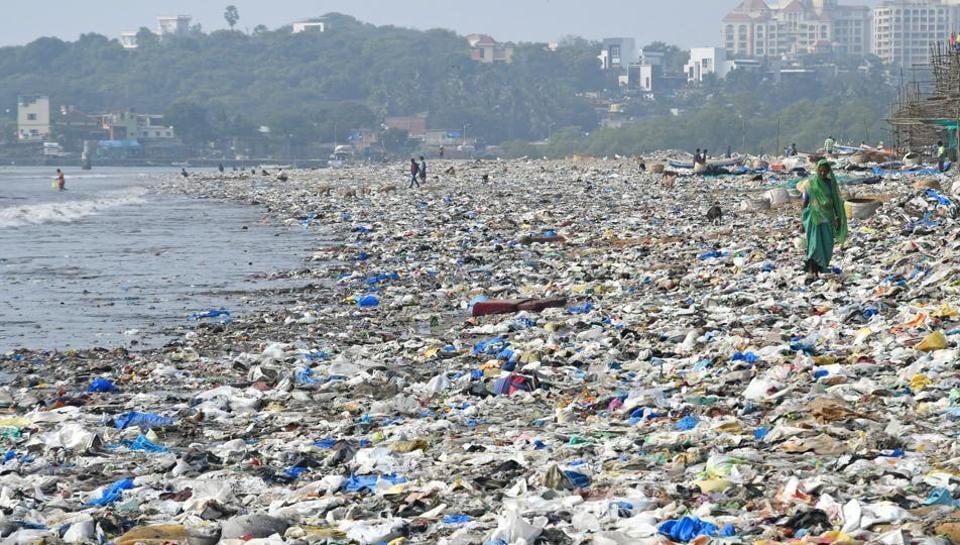 Versova beach in Mumbai on December 7, 2017.