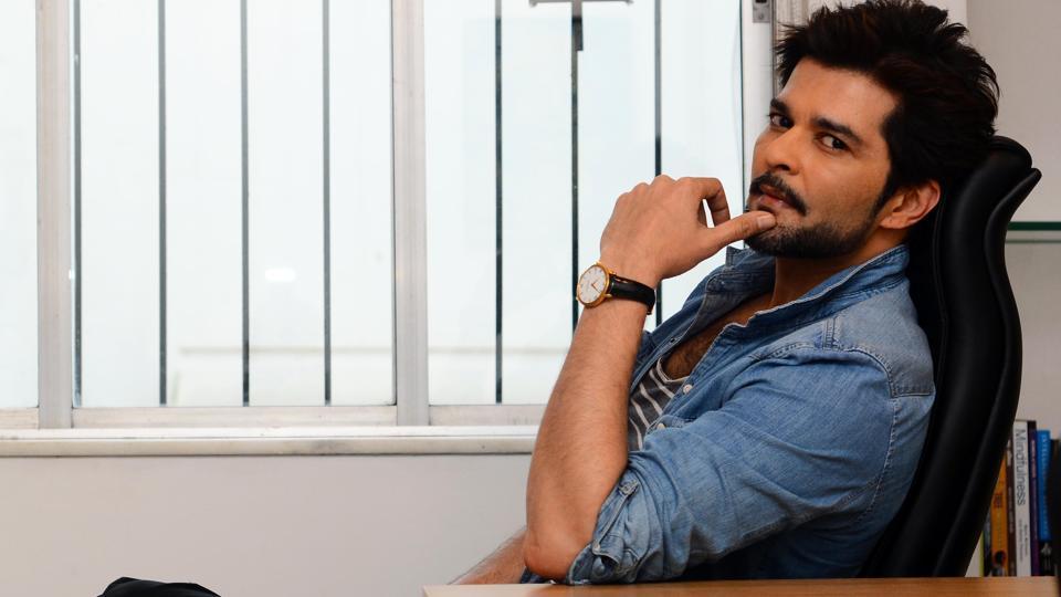 Raqesh Bapat is back from his London shooting schedule for an English-Hindi film Forever. (Shankar Narayan/HT PHOTO)